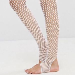 ASOS Accessories - NWT ASOS stir up white fishnet tights